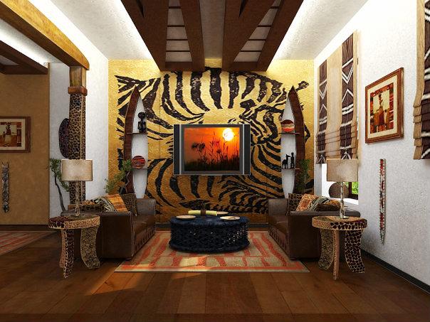 Интерьер в африканском стиле  84 фото примера